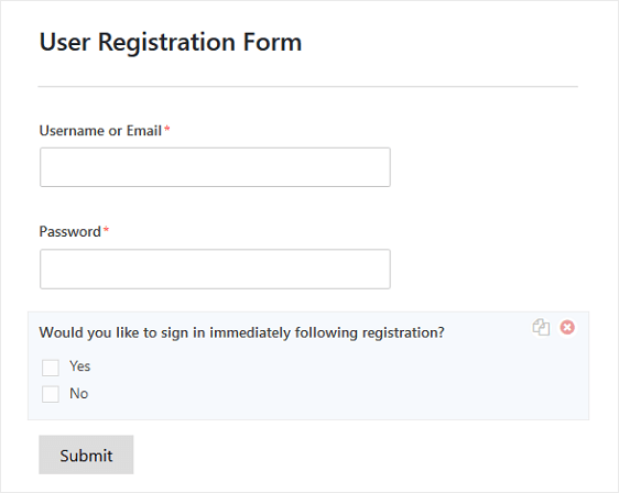 user registration form example