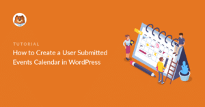 User submitted events in WordPress