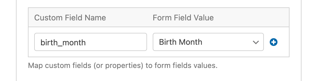 An example of a Drip custom field mapping