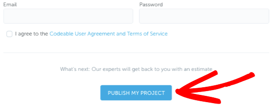 Publish your project in Codeable
