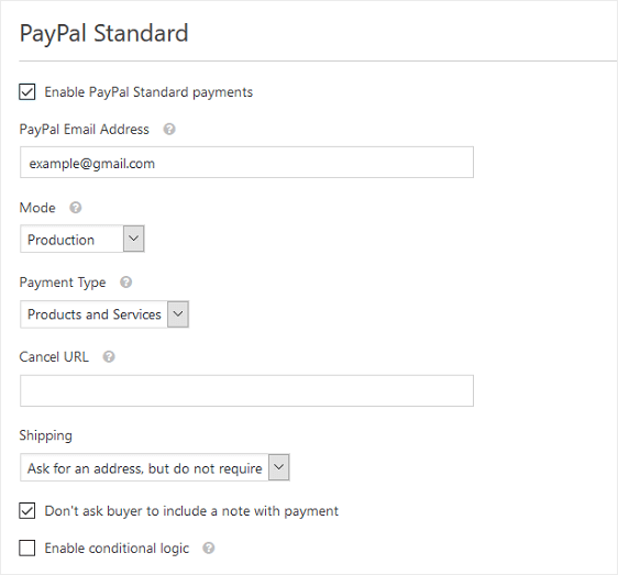 configure paypal settings