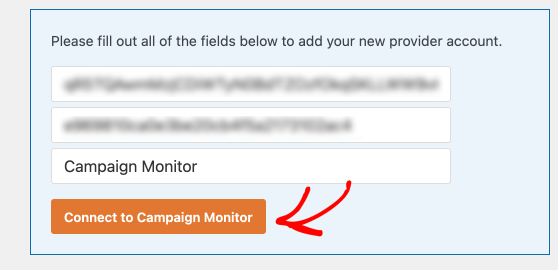 Connecting WPForms to Campaign Monitor