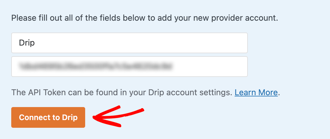 Connecting WPForms to Drip