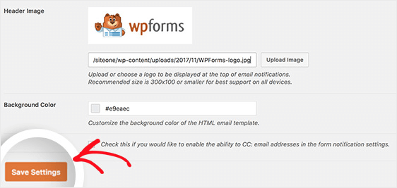 email header image save