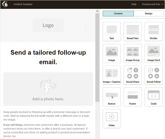 mailchimp follow up