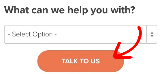 mobile form cta example.