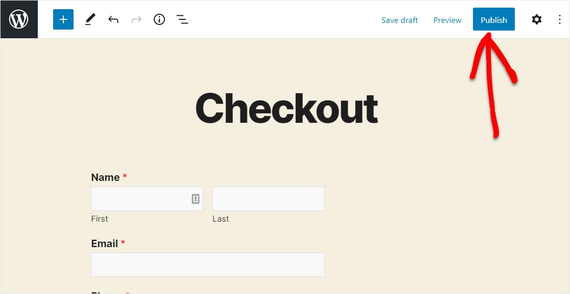 publish order form