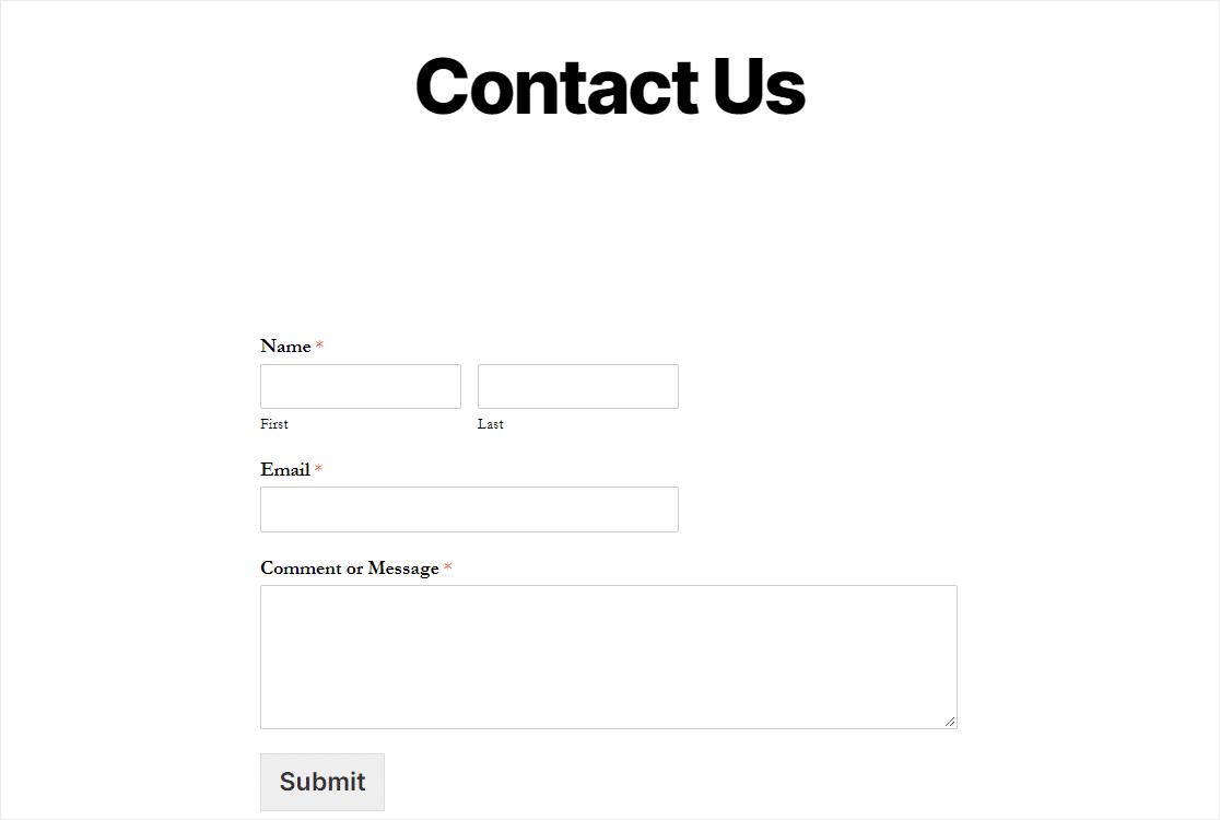 published wordpress redirect form