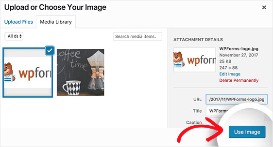 use image in email header