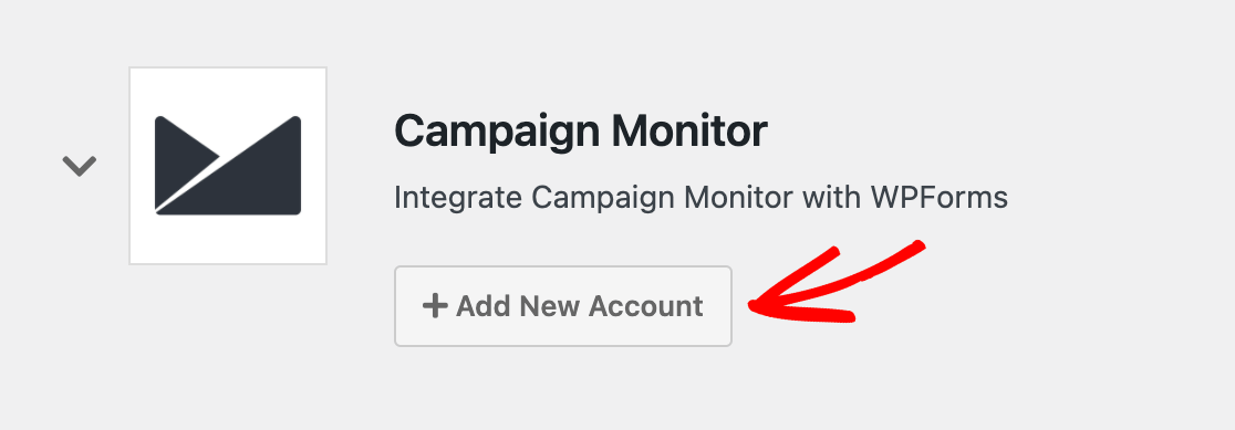 Adding a new Campaign Monitor account to WPForms