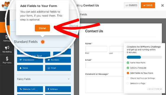 Add fields to your form