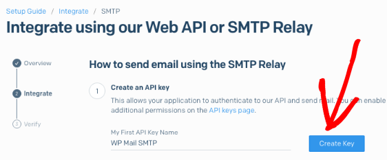 Create a SendGrid API key