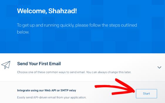 SendGrid setup - integrate using our Web API or SMTP relay