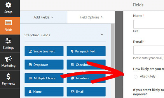add multiple choice field to suggestion form