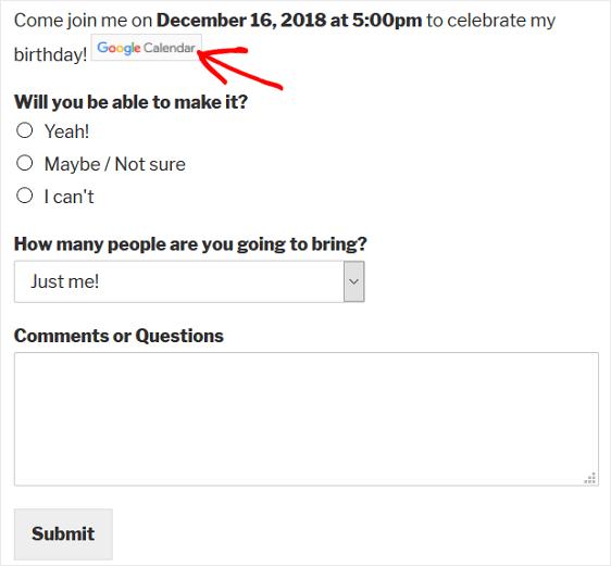 final add to calendar option
