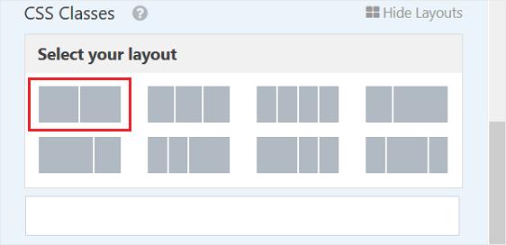 multiple column layout options