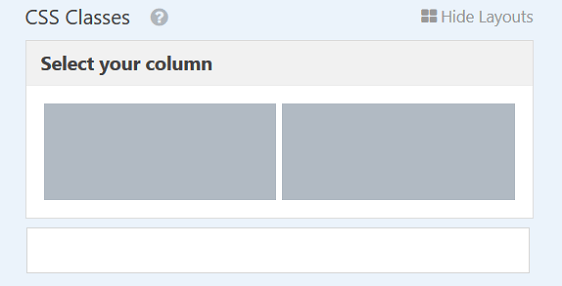 multiple column selection