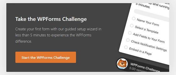 wpforms challenge prompt
