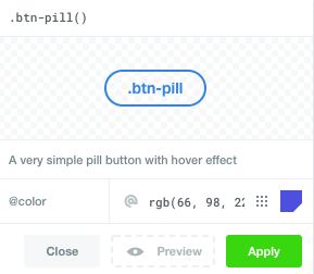 Customize and apply built in button design