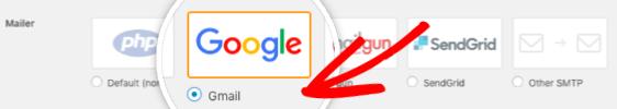 Select Gmail mailer