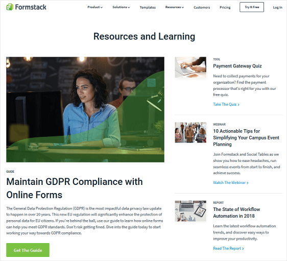 formstack resources