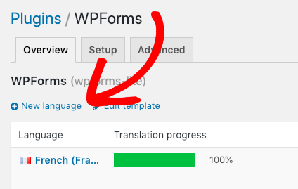 Add new language for WPForms with Loco Translate
