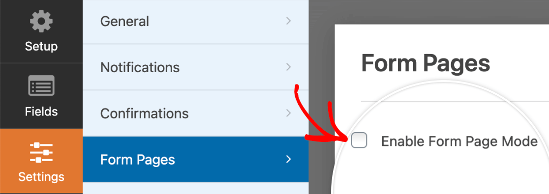 Enabling form pages