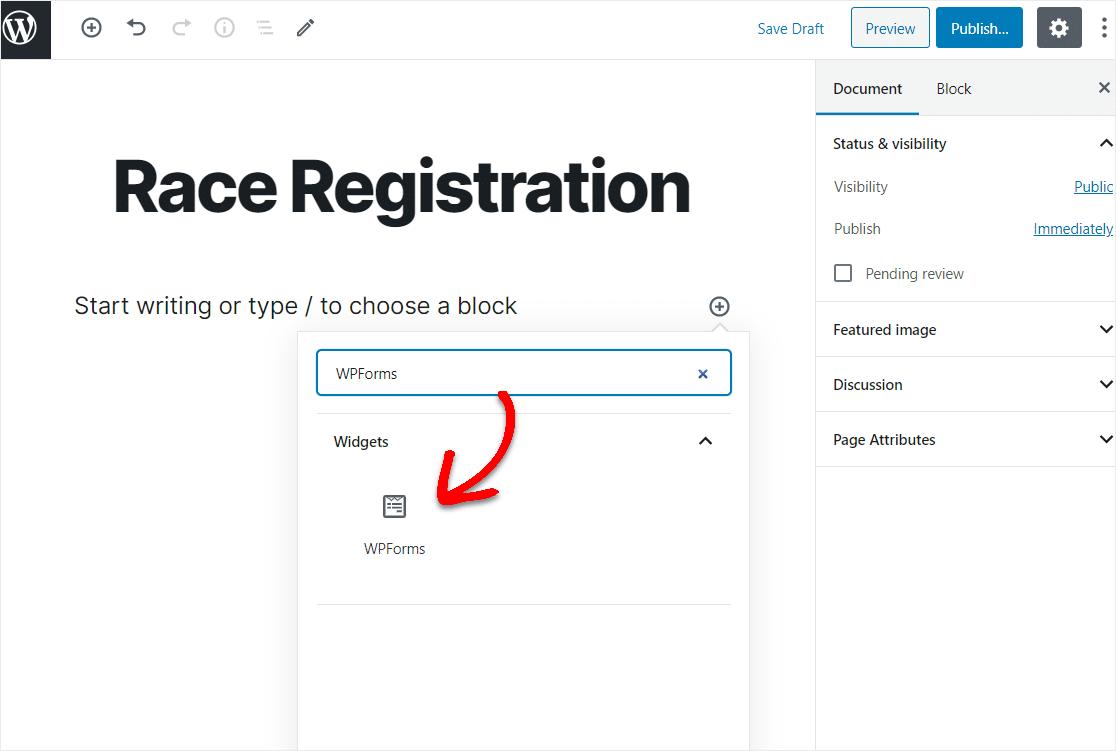 race registration wordpress