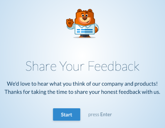 Header Logo example for conversational forms