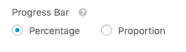 Progress Bar setting for conversational forms