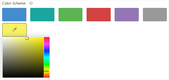 colors to choose from