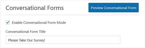 conversational forms title
