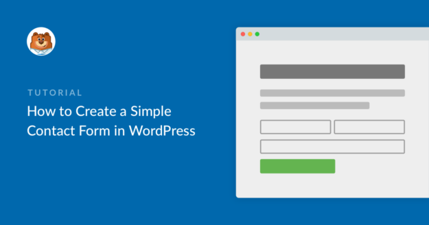 Make a Simple Contact Form in WordPress
