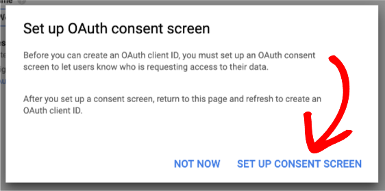 Open OAuth consent screen