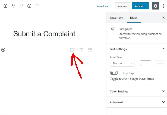 add-complaint-form-to-new-page