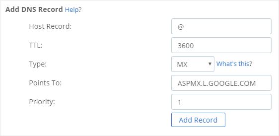 Add MX Records
