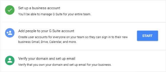 Add user accounts to G Suite