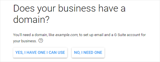 Do you have a business domain name