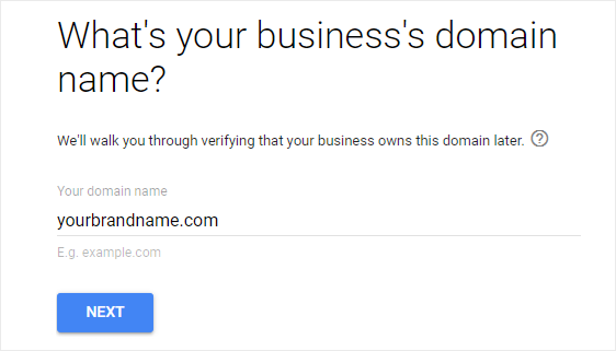 Enter Business Domain Name