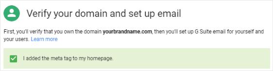 Setup Email Meta Tag