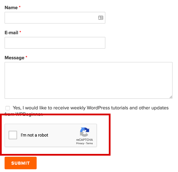 WPBeginner Contact Form
