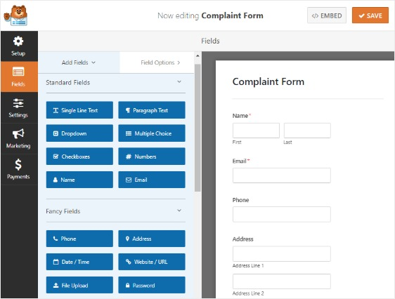 wpforms-complaint-form-default-fields