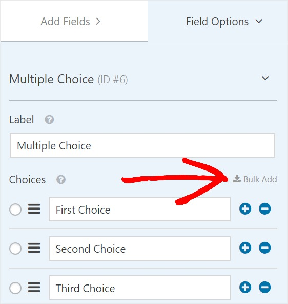 Add Bulk Choices to Your Forms