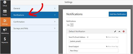 WPForms-Notifications-Settings