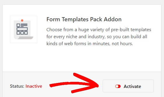 activate-form-templates-pack-addon-to-create-an-emergency-contact-form-in-wordpress
