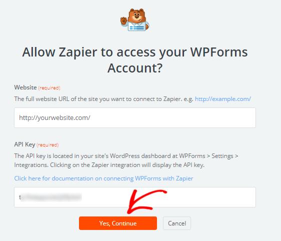 allow access to Zapier