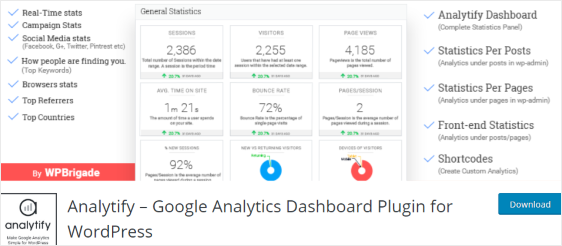 Analytify plugin