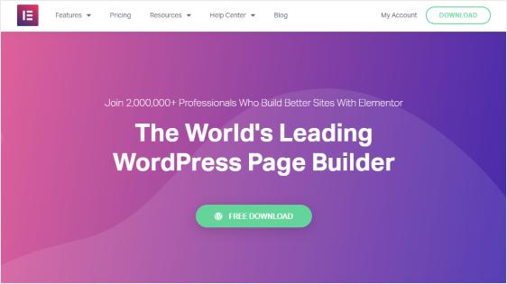 Elementor Page Builder Plugin