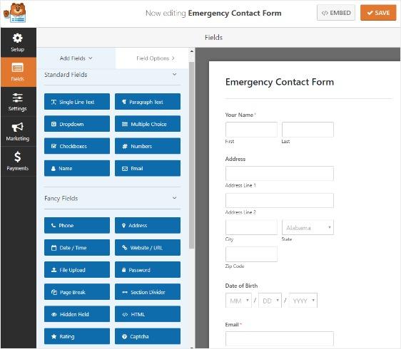 emergency-contact-information-in-wordpress