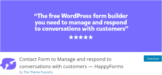 HappyForms Plugin